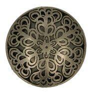 Fournituren voor tassen - Knoop metaal oud zilver 5587-40