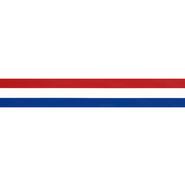 Rot-Weiß-Blaues Band - Zierband rot/weiss/blau 25 mm