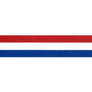 Rot-Weiß-Blaues Band - Zierband rot/weiss/blau 38 mm