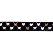 Ripsband - Ripslint hartje zwart 25mm 22384-25-000