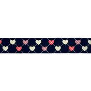 Band - Ripslint hartje donkerblauw 25mm 22384-25-210