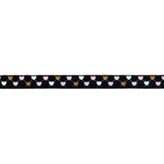Band mit Herzchen - Ripsband Herz 9 mm schwarz (22384)