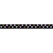 Gewebtes Band - Ripsband Herz 9 mm schwarz (22384)