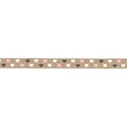 Band - Ripslint hartje beige 9mm 22384-886