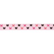 Ripsband - Ripslint hartje lichtroze 16mm 22384-749