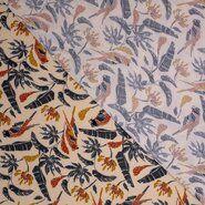 Polytex stoffen - Ptx21 346000-10 Tricot Bamboo papegaai creme