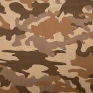 Tricot stoffen - KN21 0864-090 Tricot camouflage beige