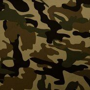 Tricot stoffen - KN21 0864-210 Tricot camouflage groen/bruin/beige
