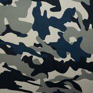 Katoen, polyester, elastan - KN21 0864-690 Tricot camouflage grijs/blauw