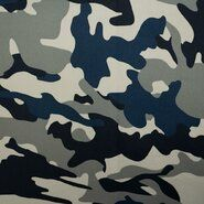 Tricot stoffen - KN21 0864-690 Tricot camouflage grijs/blauw