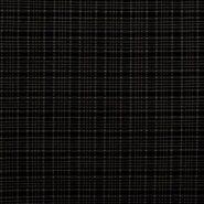 KnipIdee stoffen - KN21 17540-604 Stretch Jacquard Bengaline ruit donkerblauw