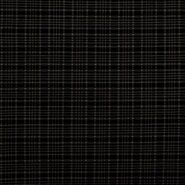 Stretch - KN21 17540-604 Stretch Jacquard Bengaline ruit donkerblauw