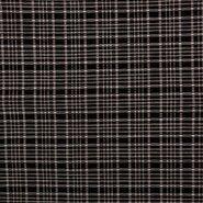 Stretch - KN21 17540-97 Stretch Jacquard Bengaline ruit zwart