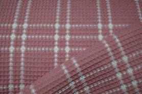 Wafel ruit - KN21 18460-825 Wafelkatoen ruit blush