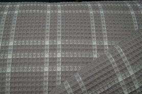 Wafel ruit - KN21 18460-960 Wafelkatoen ruit kiezel