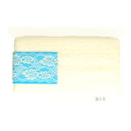 Band met bloem - Rekbaar kant 6.5 cm ecru (2149-089)