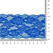 Band met bloem - Rekbaar kant 6.5 cm kobaltblauw (2149-89)