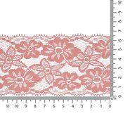 Band met bloem - Rekbaar kant 6.5 cm licht koraal (2149-705)