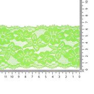 Band met bloem - Rekbaar kant 6.5 cm neon groen (2149-333)