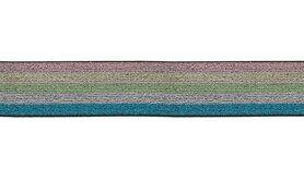 Gummi - XET28-299 Elastiek Lurex Multi 40mm