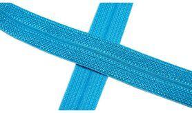 Biasband* - XBT14-504 Biasband Elastisch Glans Turquoise