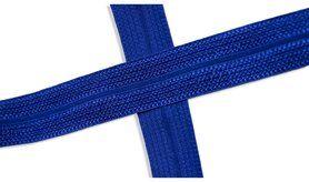 Biasband* - XBT14-507 Biasband Elastisch Glans Kobaltblauw