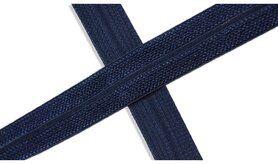 Biasband* - XBT14-508 Biasband Elastisch Glans Donkerblauw