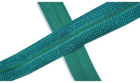 Biasband* - XBT14-526 Biasband Elastisch Glans Smaragdgroen