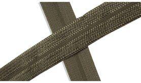 Biasband* - XBT14-527 Biasband Elastisch Glans Legergroen