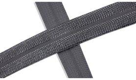 Biasband* - XBT14-562 Biasband Elastisch Glans Donkegrijs