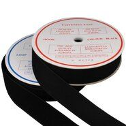 50 mm band - Klittenband Naaibaar 5 cm breed Zwart