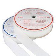 50 mm band - Klittenband Naaibaar 5 cm breed Wit