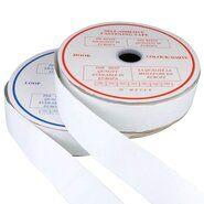 Klittenband* - Klittenband Plakbaar 5 cm breed Wit