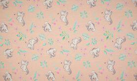 Schlafanzug - K10001-013 Jersey Elephanten dusty rosa