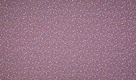 Paarse stoffen - K10005-043 Tricot dots dusty paars