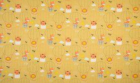 Fantasie - K10012-083 Tricot luchtballonnen/dieren geel