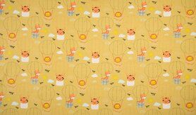Schlafanzug - K10012-083 Jersey Luftballons/Tiere gelb