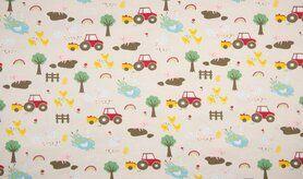 Schlafanzug - K10013-051 Jersey Bauernhof sand
