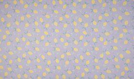 Lila Stoffe - OR3516-043 Organic cotton lemons lila