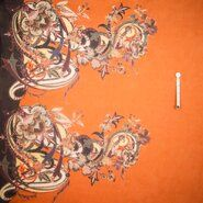 Polytex stoffen - Ptx Zomer21 923511-11 Katoen rand fantasieprint oranje
