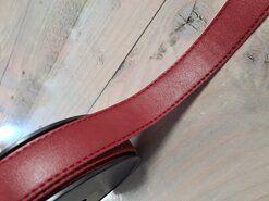 Rood - Kunstleer band rood 30mm (F403.30.044)