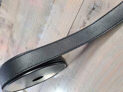Zwart - Kunstleer band zwart 30mm (F403.30.001)