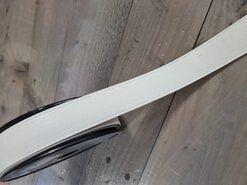 Weiß/cremefarben - Kunstleder Band weiß 30mm (F403.30.002)