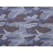Leger motief - ByPoppy17 5499-003 Sweat camouflage blauw