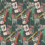 By Poppy - ByPoppy17 8350-002 Soft sweattricot skateboards oudgroen
