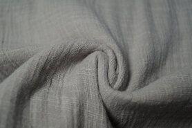 Effen katoenen stoffen - KN 0800-950 Linen baby cotton kiezel
