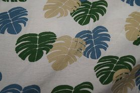 Viskose - Ptx Sommer21 333005-1 Viskose Blätter off-white/beige/grün/blau