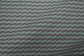 Polytex stoffen - Ptx Zomer21 340016-62 Tricot zigzag mint grijs