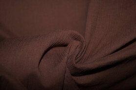 Effen katoenen stoffen - Ptx Zomer21 399000-361 Katoen crepe bruin