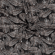Tricot stoffen - NB21 15071-069 Tricot abstract zwart